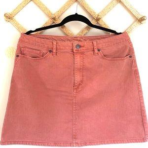 •UNIVERSAL THREAD• Rose Denim Mini Skirt Size 12